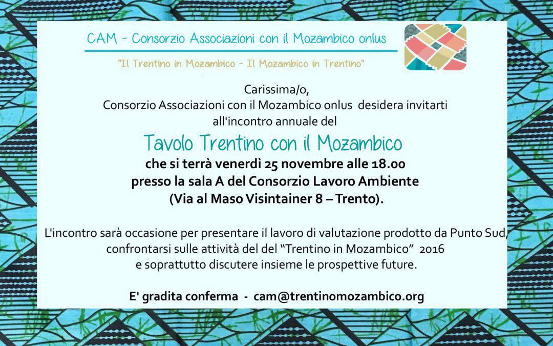 Incontro Del Tavolo Trentino Con Il Mozambico