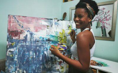 Nália das Dores, un'artista Mozambicana formatasi a Trento
