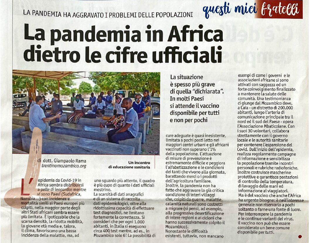 La pandemia in Africa dietro le cifre ufficiali